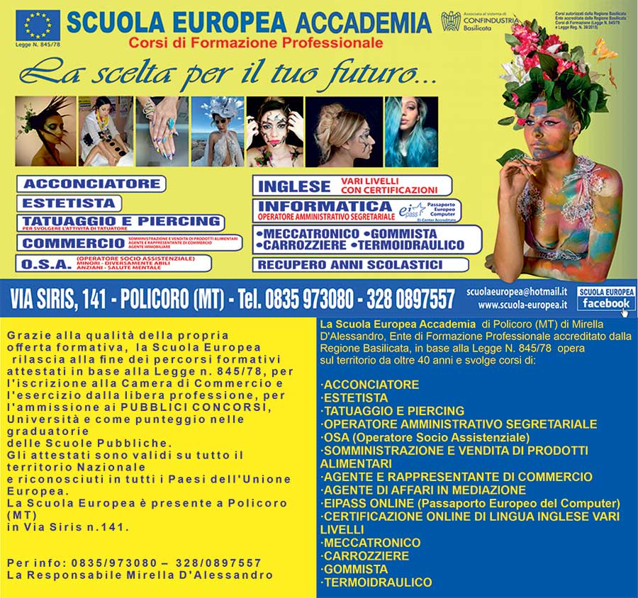 Banner scuola europea